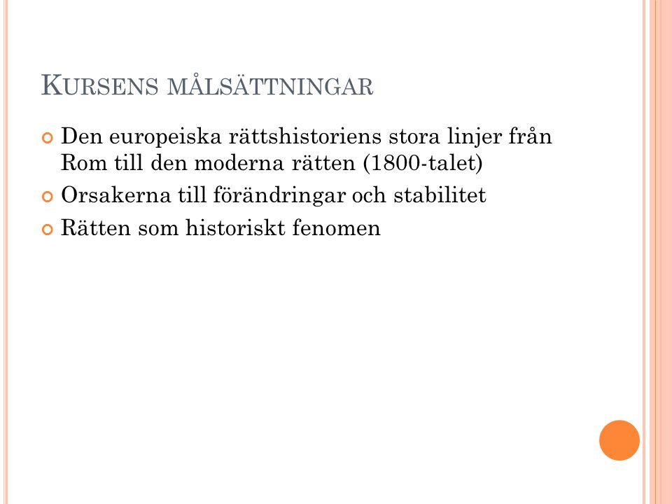 K ODIFIKATIONSVÅG 1 Protokodifikationerna : Hammurabis lag laki (ca.
