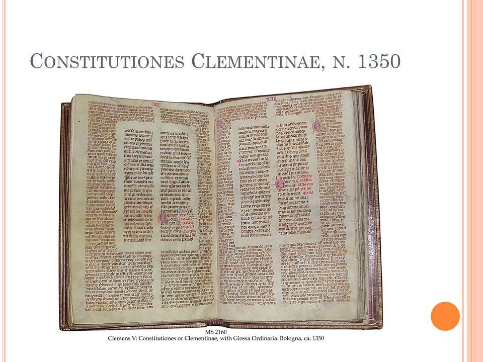 C ONSTITUTIONES C LEMENTINAE, N. 1350