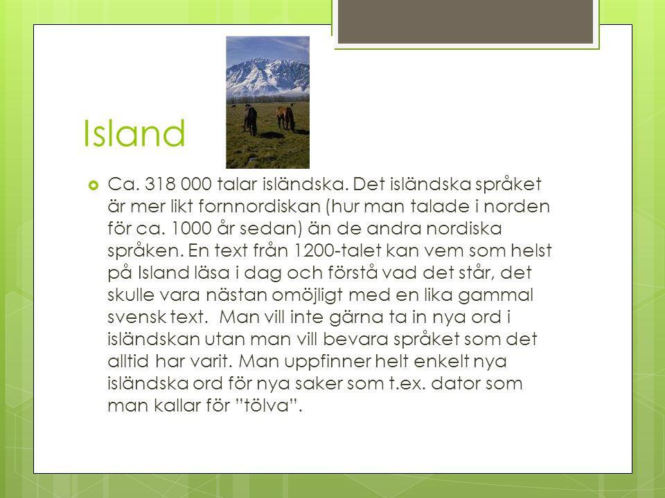 Nordiska språk, Isländska Isländska