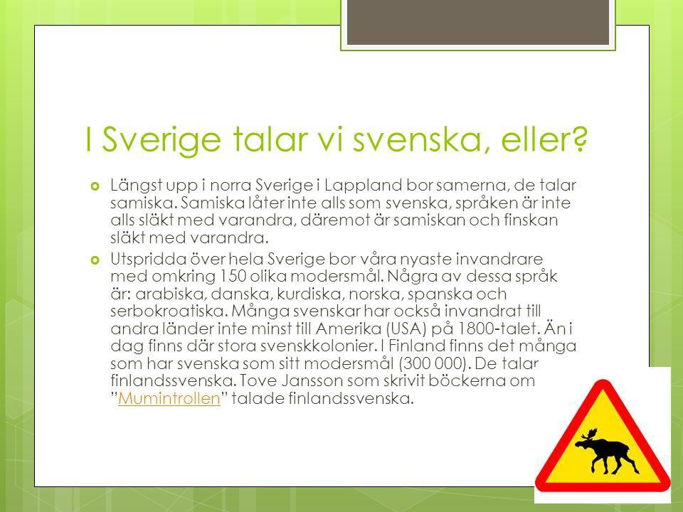 Nordiska språk, Svenska Svenska