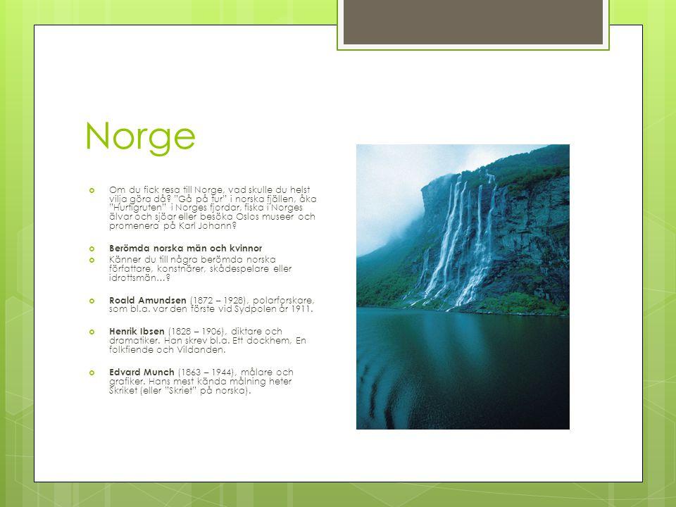 Nordiska språk, NorskaNorska