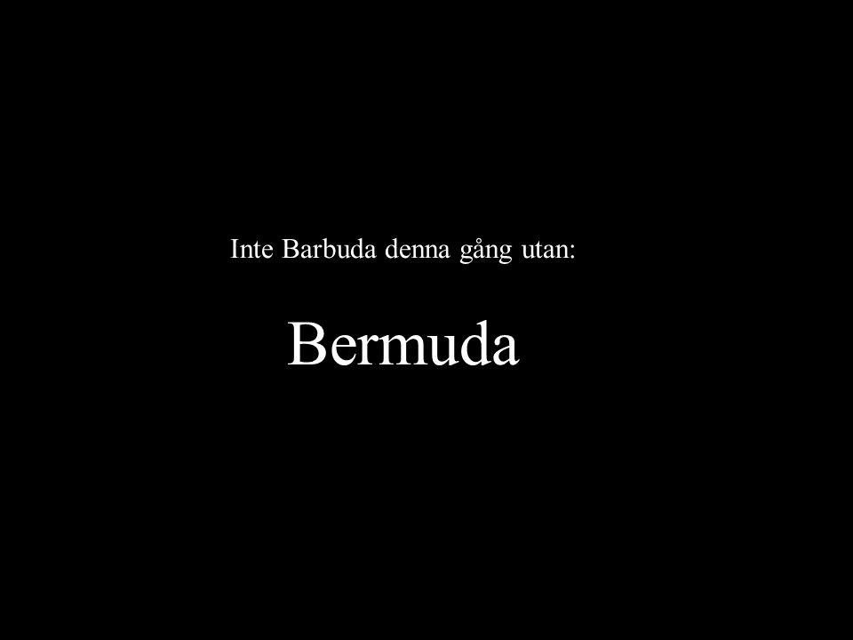 Inte Barbuda denna gång utan: Bermuda