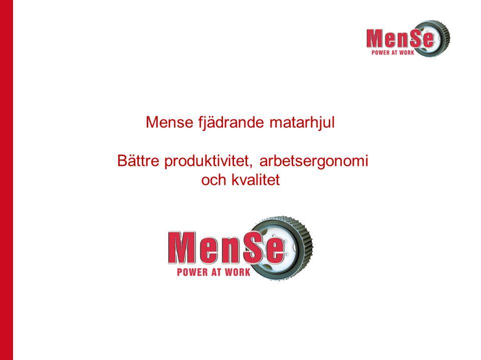 May-2008Seppo Mentula2 Patenterade fjädrande matarhjul Fjädrande matarhjul –Yttre rör av stål med påsvetsade piggar –Inre rör med monteringsnav –Det båda rören hålls ihop av fjädrande gummivulkanisering –Konstruktionen medför flexibilitet åt tre håll –Optimal greppyta beroende på stocken (standard-, skonsam, aggressiv och eukalyptus) –Piggarna kan bytas ut (hjulet kan renoveras) Större produktivitet genom lägre kostnader