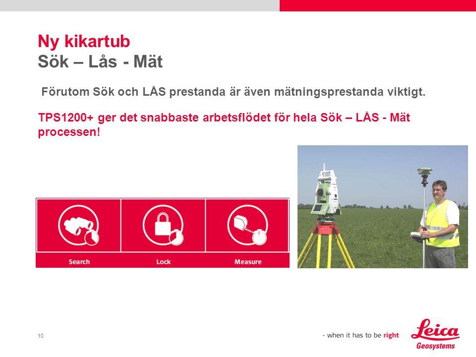 10 Ny kikartub Sök – Lås - Mät Förutom Sök och LÅS prestanda är även mätningsprestanda viktigt.