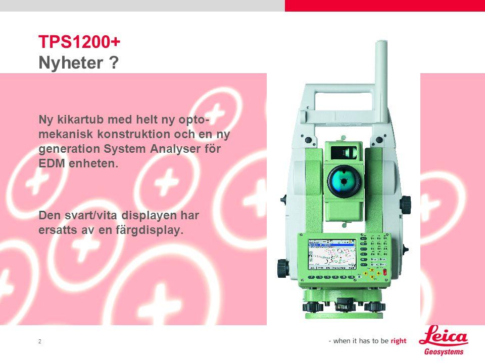 2 TPS1200+ Nyheter .