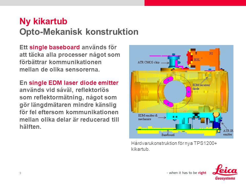 3 Ny kikartub Opto-Mekanisk konstruktion Ett single baseboard används för att täcka alla processer något som förbättrar kommunikationen mellan de olika sensorerna.
