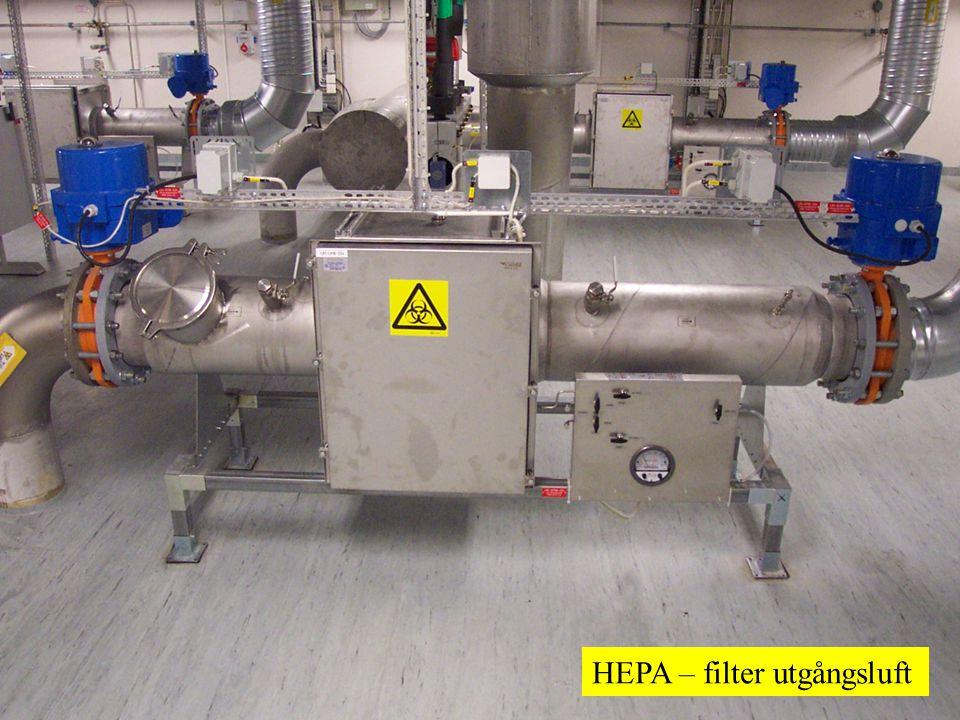 18 HEPA – filter utgångsluft
