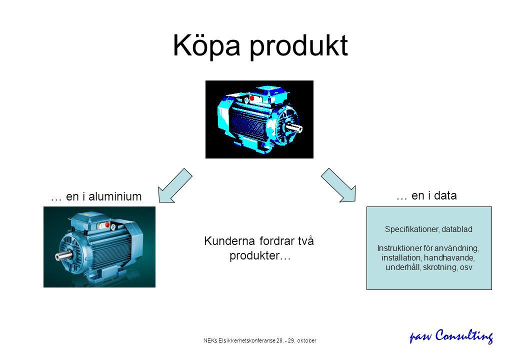 pasv Consulting NEKs Elsikkerhetskonferanse 28. - 29. oktober Köpa produkt Specifikationer, datablad Instruktioner för användning, installation, handh