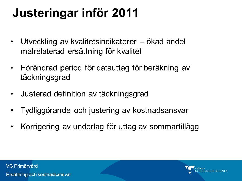 VG Primärvård Ersättning och kostnadsansvar Några delar att utreda - modellen 1.Översyn viktlista ålder och kön 2.Ökad andel ersättning kopplad till ACG.