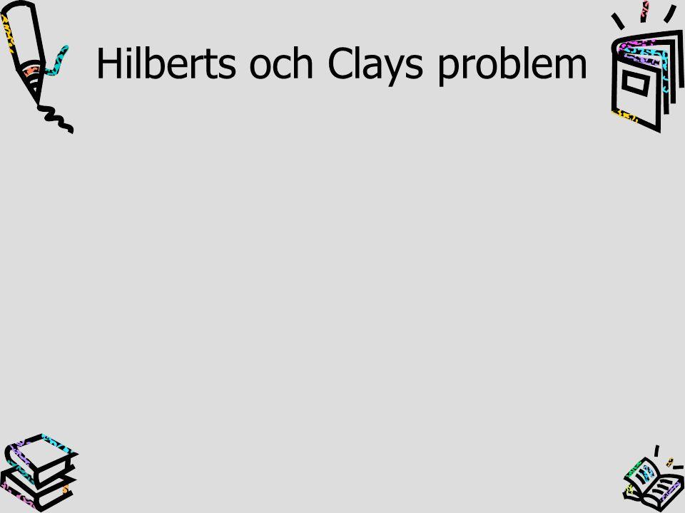 Hilberts och Clays problem
