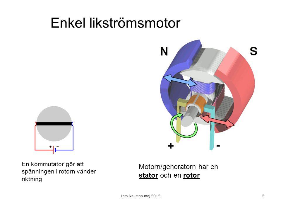 Lars Neuman maj 20123 Om statorn har en enkel lindning talar vi om en 2-polig motor.