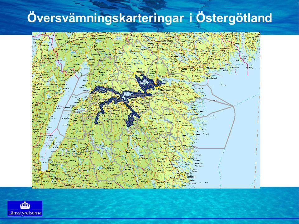 Översvämningskarteringar i Östergötland