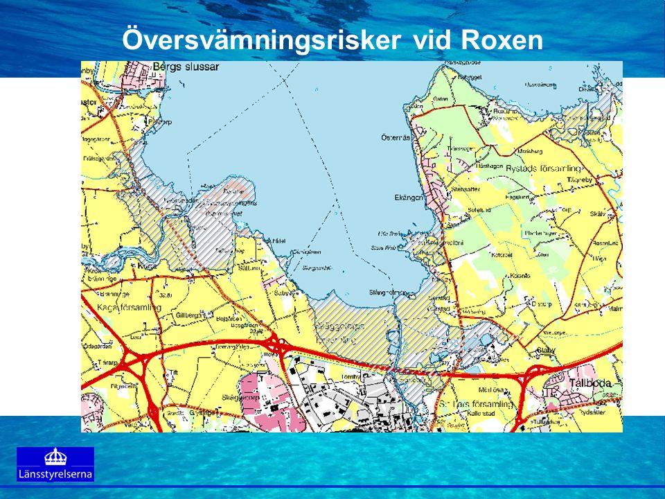 Tillämpningar Länsstyrelserna rekommenderar alla kommuner att i den översiktliga planeringen se över vilka områden som ligger i riskzonen för översvämning.