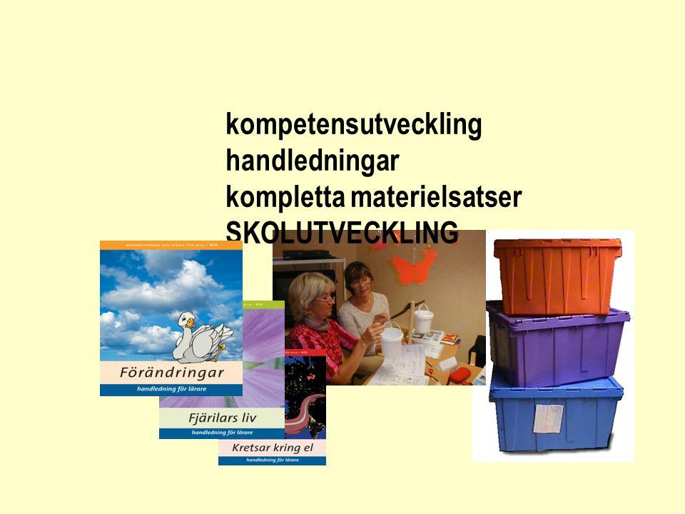 kompetensutveckling handledningar kompletta materielsatser SKOLUTVECKLING