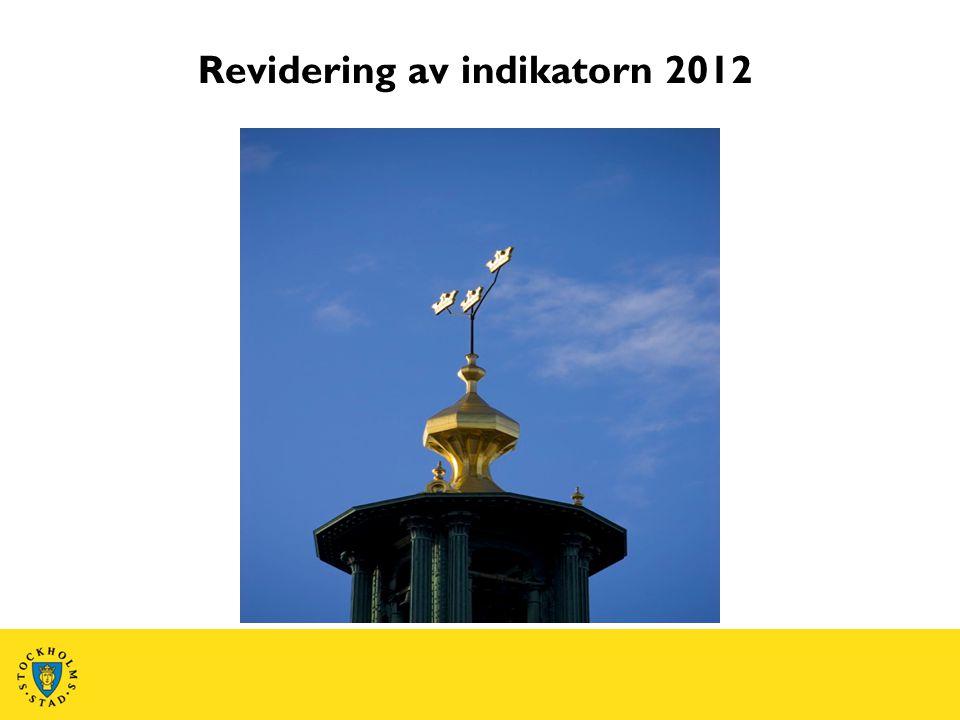 Revidering av indikatorn 2012