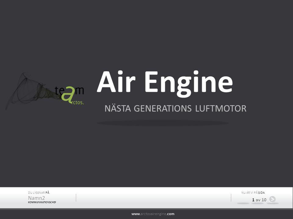 www.arctosairengine.com DU LYSSNAR PÅ Namn2 KOMMUNIKATIONSCHEF NU ÄR VI PÅ SIDA 1 av 10 Air Engine NÄSTA GENERATIONS LUFTMOTOR