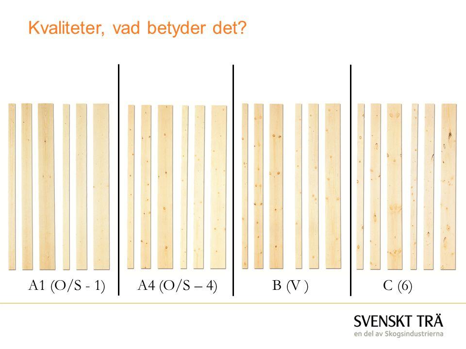Kvaliteter, vad betyder det? A1 (O/S - 1) A4 (O/S – 4) B (V ) C (6)