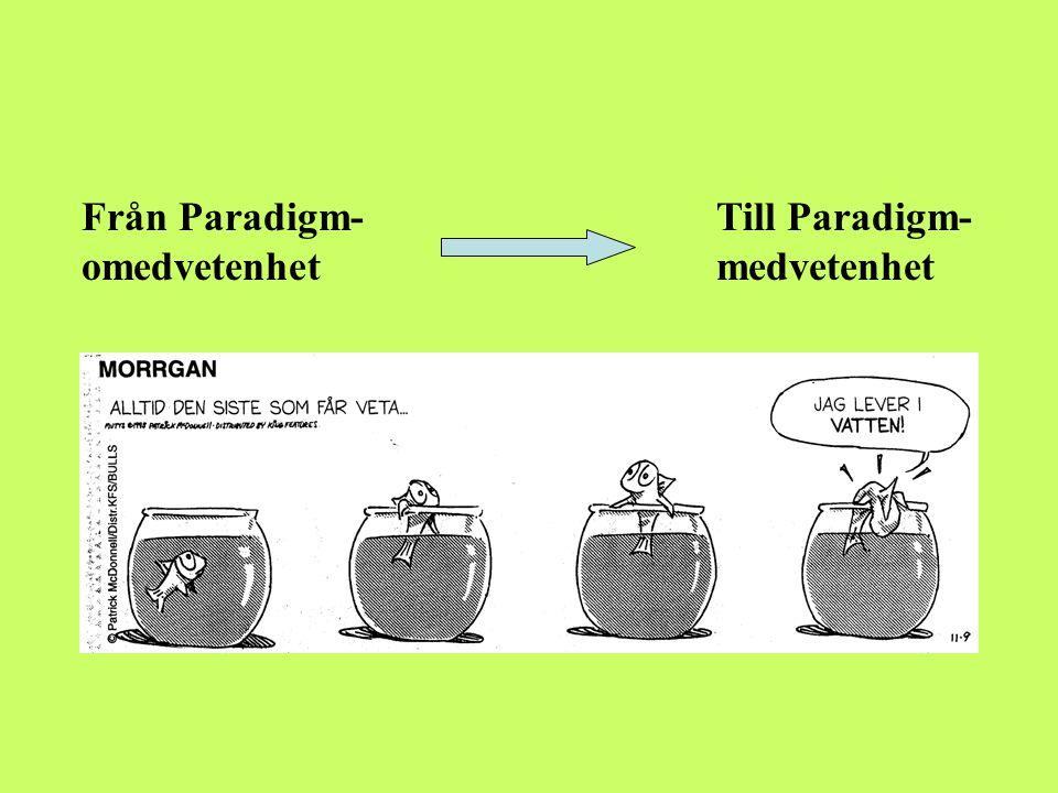 Paradigmskiften Tidspil som anger förändring över tid