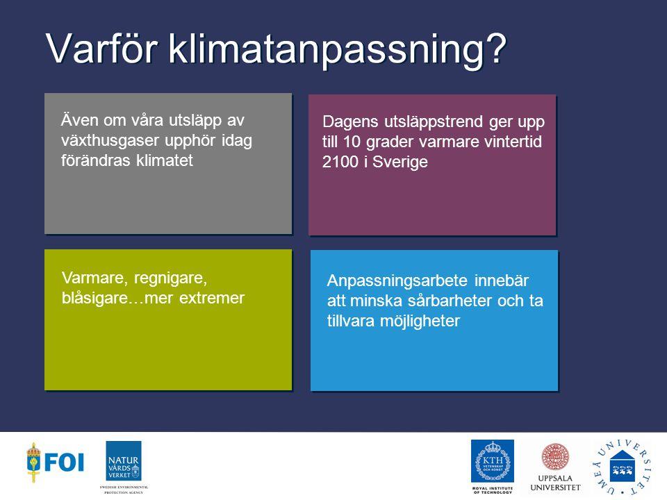 De faktiska utsläppen överstiger de värsta scenarierna idag Medelutsläpp för de olika scenariofamiljerna under perioderna 1990-2010 Faktiska utsläpp är tagna från CDIAC och GCP (Carlsen och Parmhed, 2008).