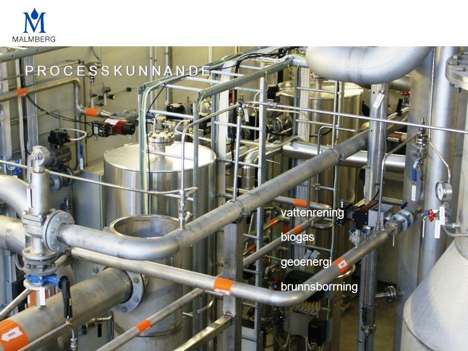 P R O C E S S K U N N A N D E • vattenrening • biogas • geoenergi • brunnsborrning