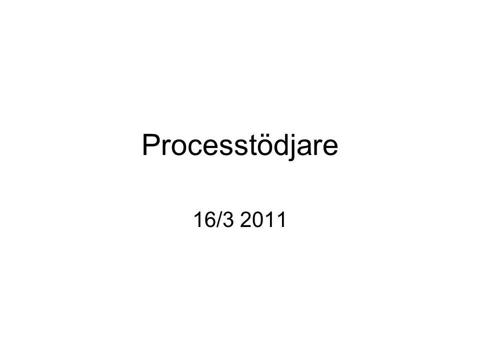 Processtödjare 16/3 2011