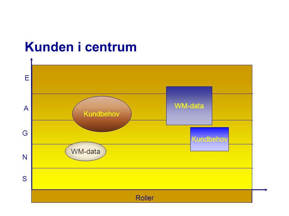 Kunden i centrum N G A E Roller S Kundbehov WM-data