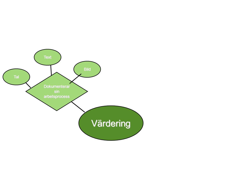Värdering Tal Text Bild Reflekterar och värderar sin arbetsprocess