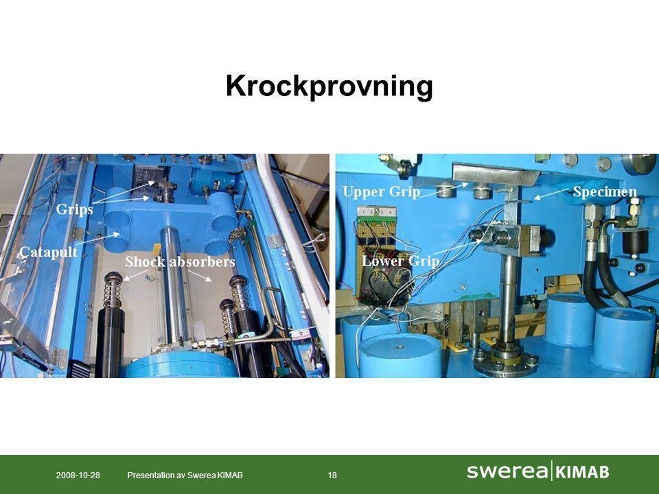 2008-10-28Presentation av Swerea KIMAB18 Krockprovning