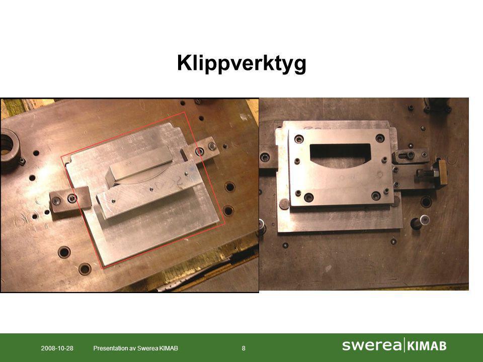 2008-10-28Presentation av Swerea KIMAB9 Provningsmatris - Utmattning