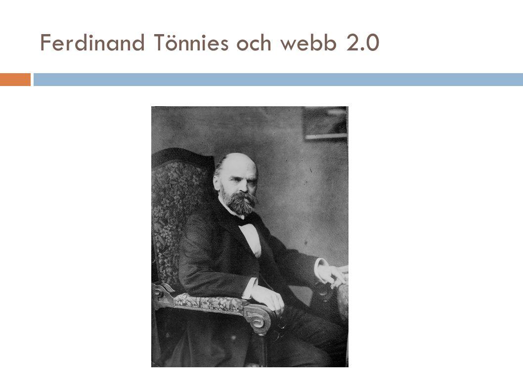 Ferdinand Tönnies och webb 2.0