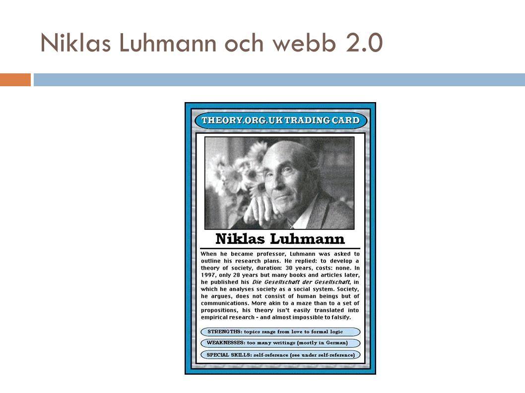 Niklas Luhmann och webb 2.0