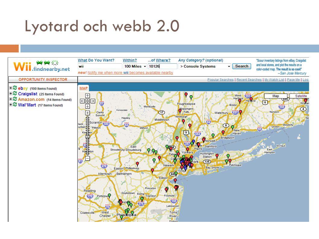 Lyotard och webb 2.0
