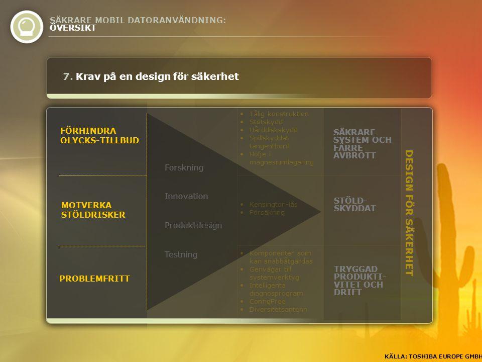 DESIGN FÖR SÄKERHET FÖRHINDRA OLYCKS-TILLBUD MOTVERKA STÖLDRISKER PROBLEMFRITT 7.