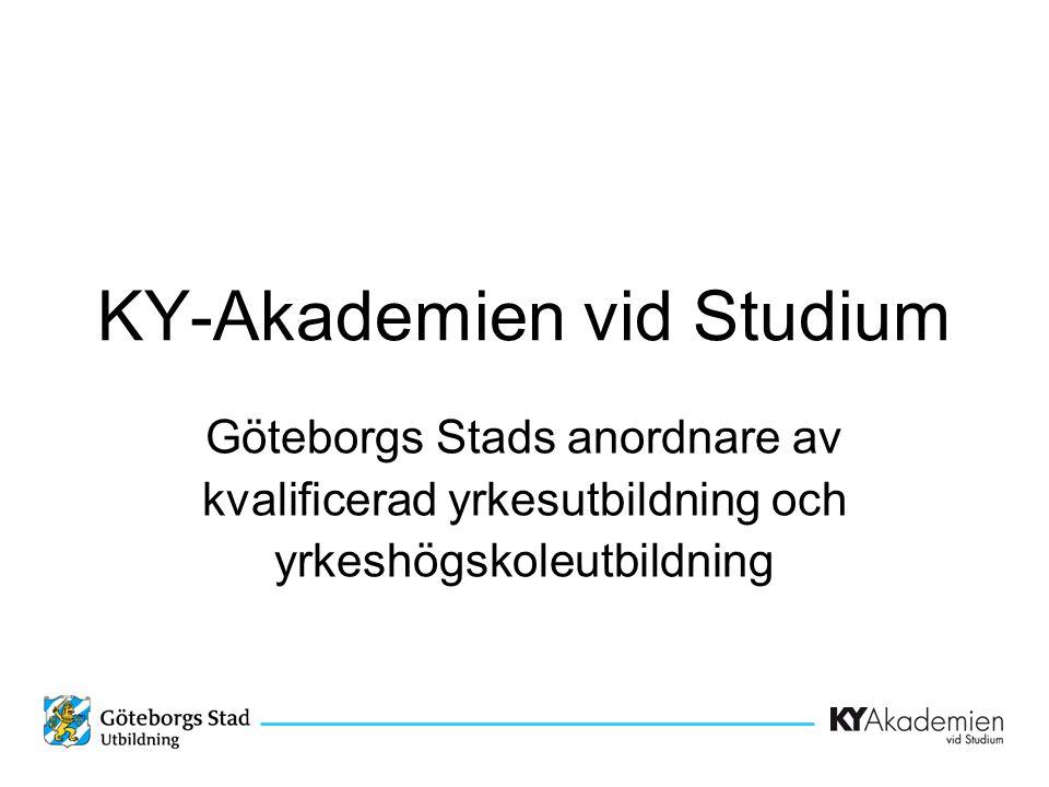 KY-Akademien vid Studium Göteborgs Stads anordnare av kvalificerad yrkesutbildning och yrkeshögskoleutbildning