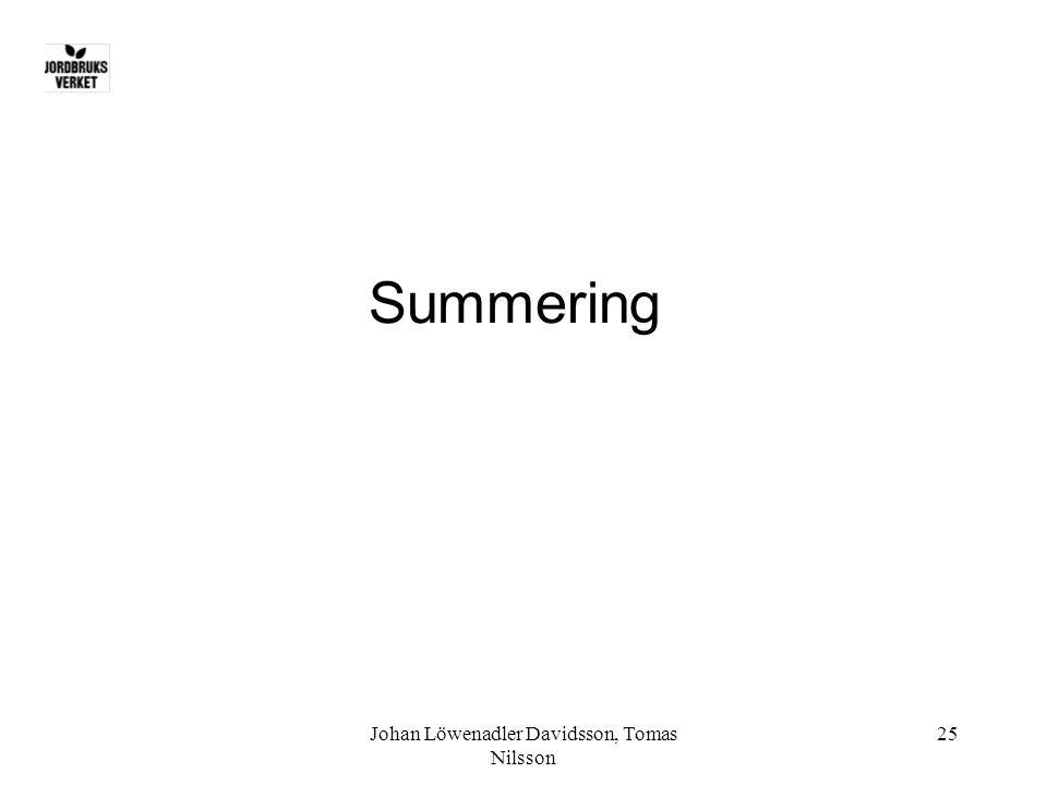 Johan Löwenadler Davidsson, Tomas Nilsson 25 Summering