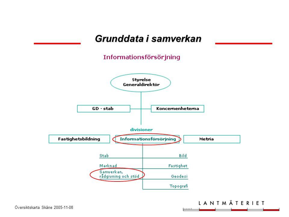 Översiktskarta Skåne 2005-11-08 Grunddata i samverkan