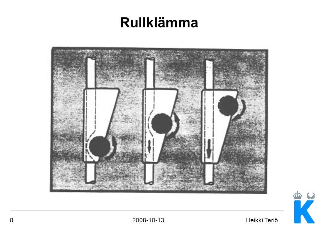 192008-10-13Heikki Teriö Elsäkerhet Elchockskydd Klass I (en extra tredje ledare, en s k skyddsjord) eller Klass II (Skyddsjord + förstärkt isolering - dubbelisolering) Klassificering lägst BF (tidigare även B) Samma krav som för typ B, men om patienten utsätts för nätspänning begränsas strömmen till 5 mA.