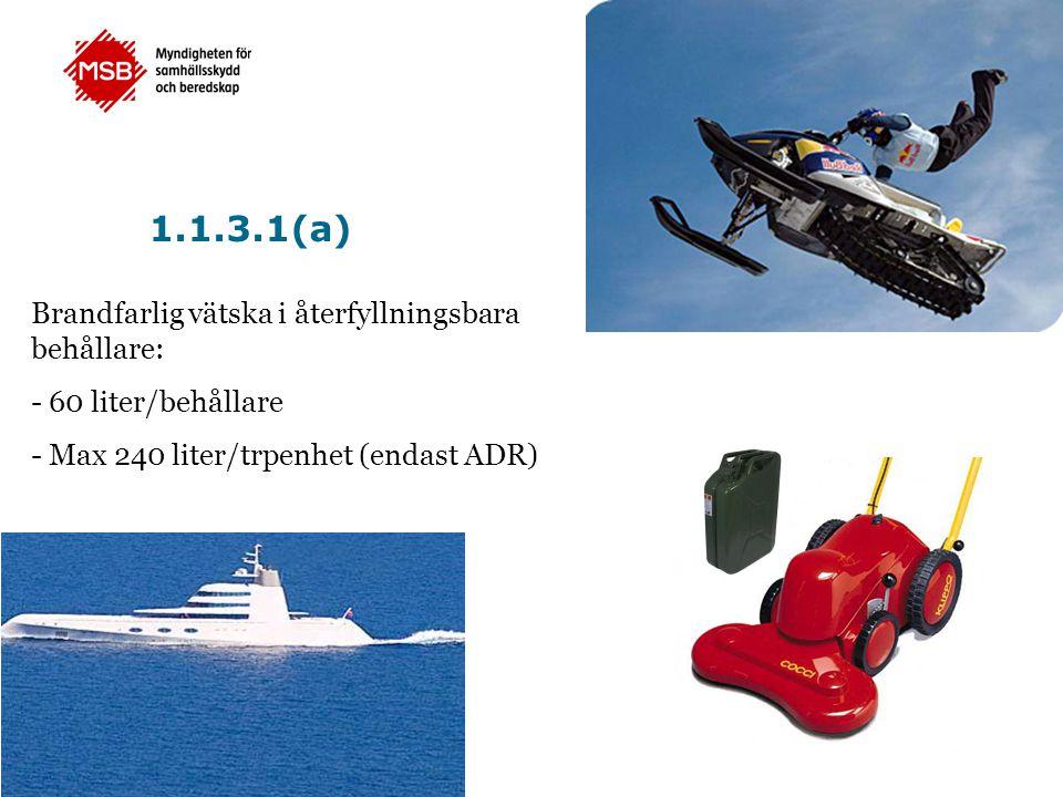 •Införs i ADR •Officiell utgåva i många länder •Publiceras på FN:s webbplats www.unece.org/trans/danger/publi/adr/adr_linguistic_e.htm 5.4.3 Skriftliga instruktioner (ADR)