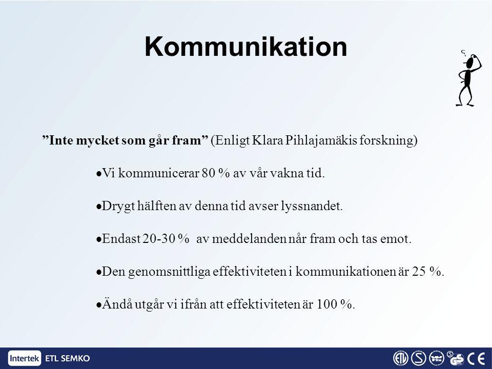"""""""Inte mycket som går fram"""" (Enligt Klara Pihlajamäkis forskning)  Vi kommunicerar 80 % av vår vakna tid.  Drygt hälften av denna tid avser lyssnande"""