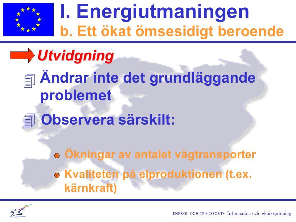 ENERGI OCH TRANSPORT - Information och teknikspridning I.