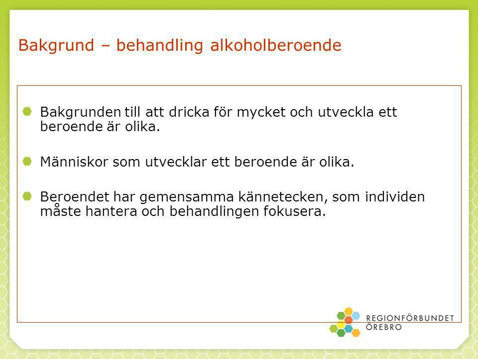 Bakgrund – behandling alkoholberoende Bakgrunden till att dricka för mycket och utveckla ett beroende är olika.