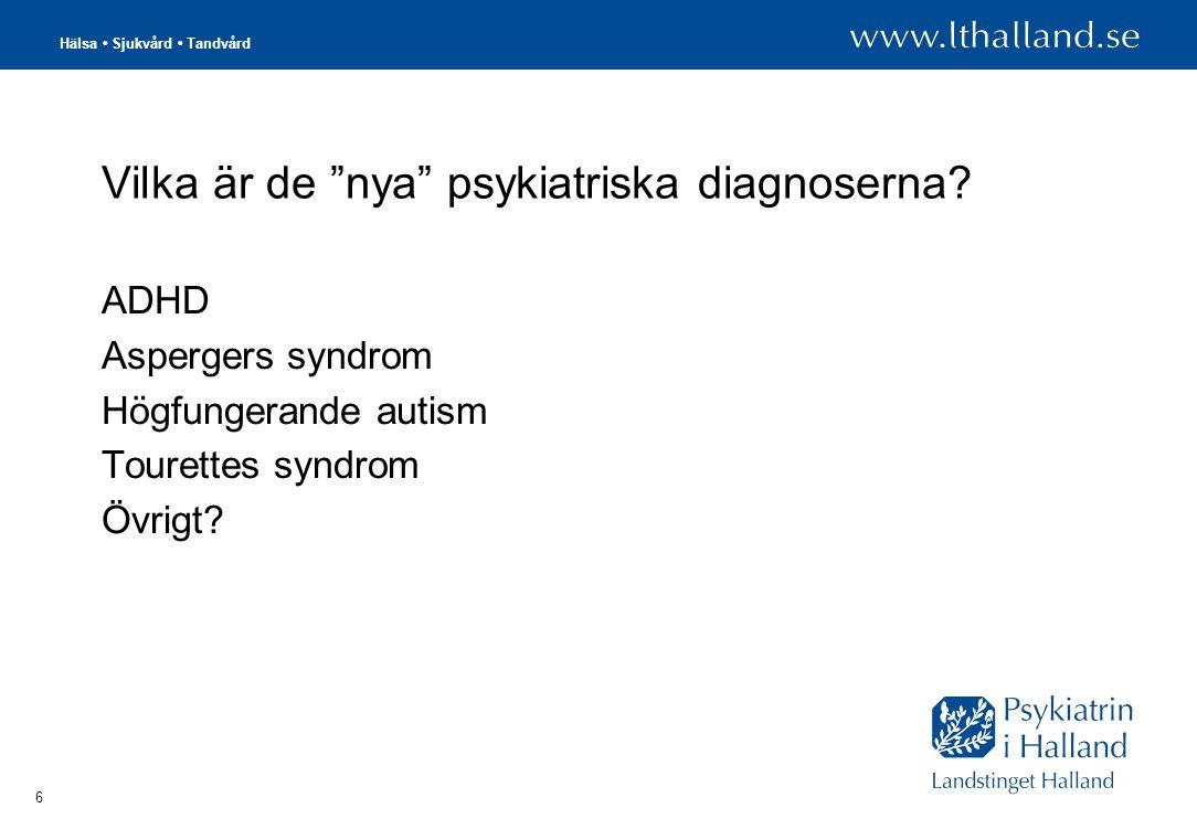 Hälsa • Sjukvård • Tandvård 6 Vilka är de nya psykiatriska diagnoserna.