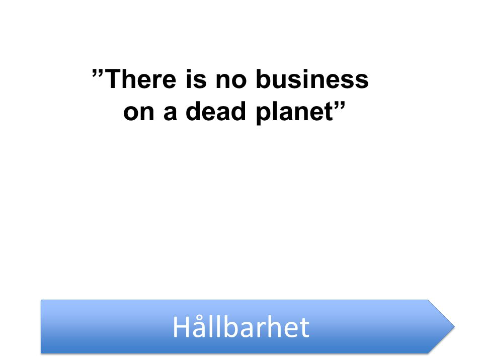 Hållbarhet There is no business on a dead planet