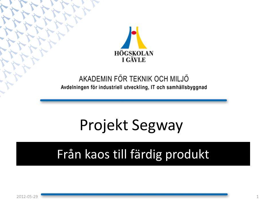 Projekt Segway Från kaos till färdig produkt 12012-05-29