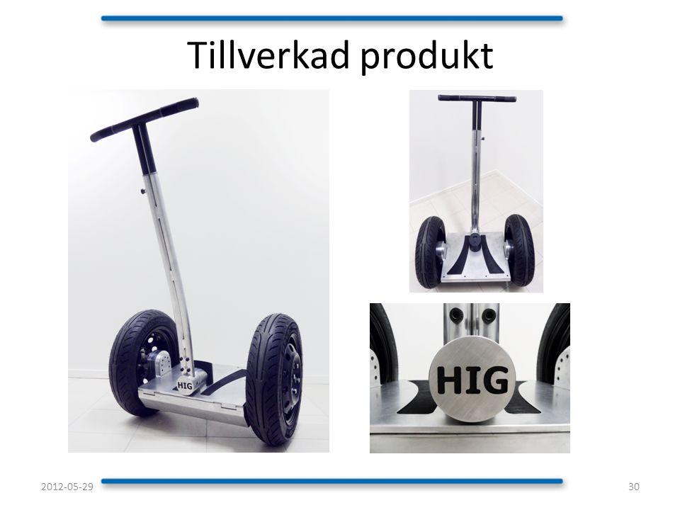 Tillverkad produkt 302012-05-29