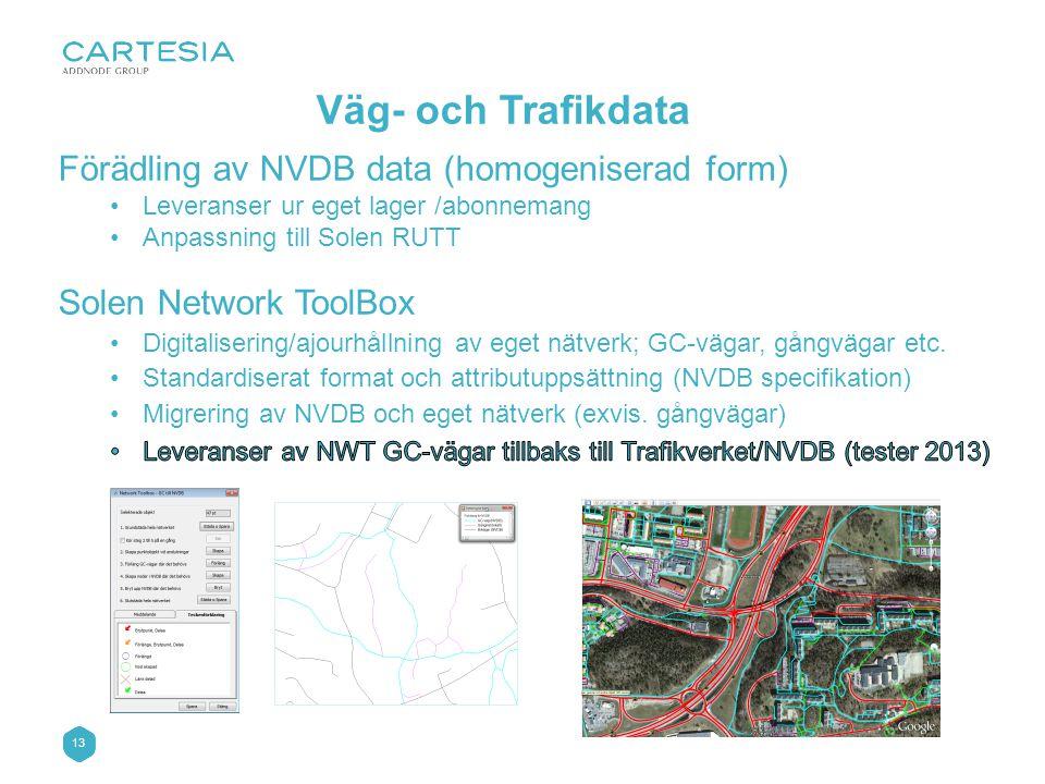 13 Väg- och Trafikdata