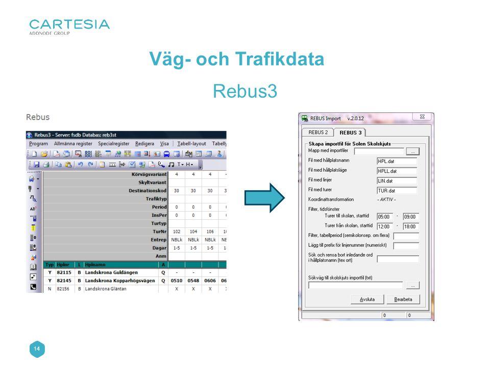 14 Väg- och Trafikdata Rebus3