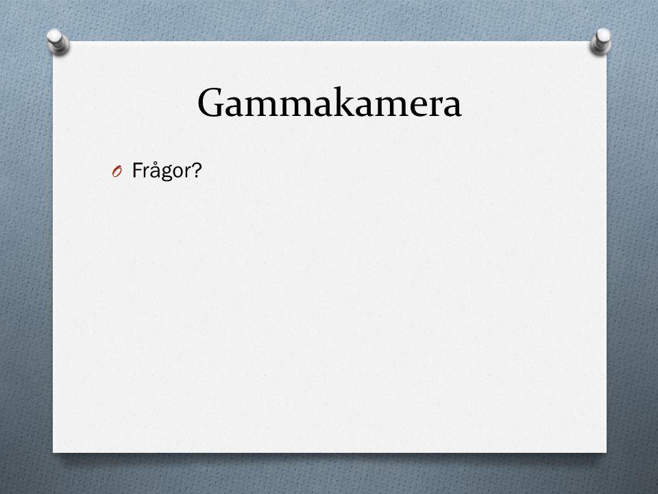Gammakamera O Frågor?