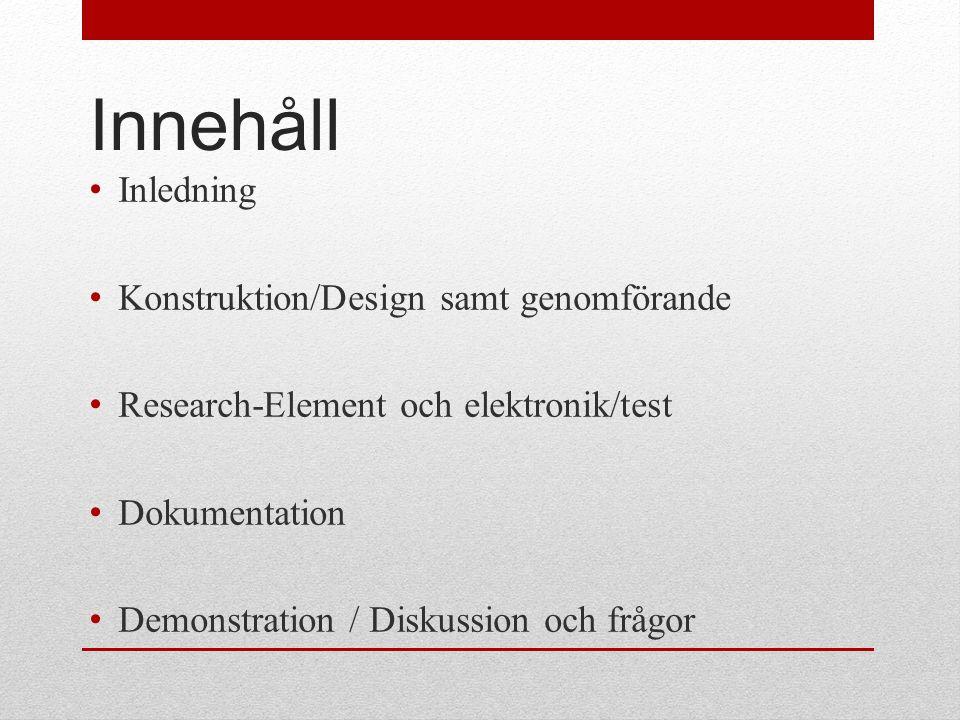 Inledning • Varför vi valde detta projekt Adam Persson (projektledare)
