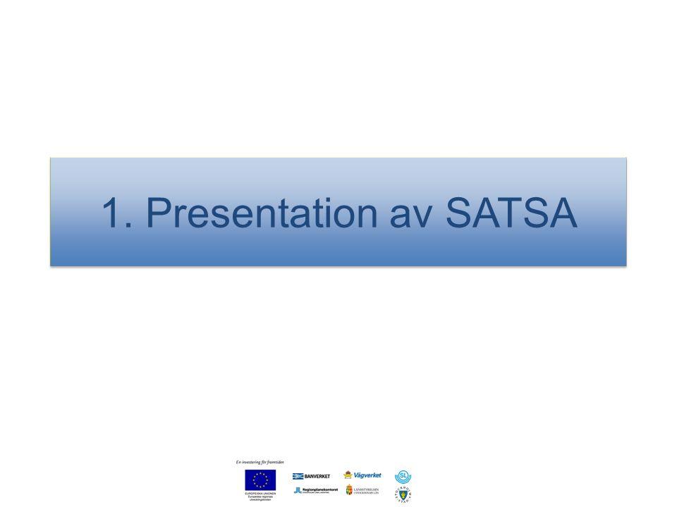 1. Presentation av SATSA